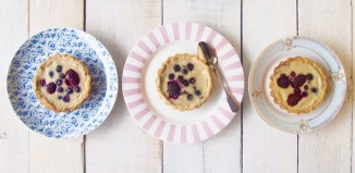 Low Fructose Paleo Custard Tart with Berries