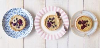 Low Fructose Paleo Custard Tart with Berries