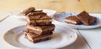 Low Fructose Vegan Salted Chocolate Peanut Butter Slice